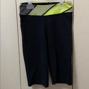 Ivivva Black, Yellow & Grey Crop Exercise Pants